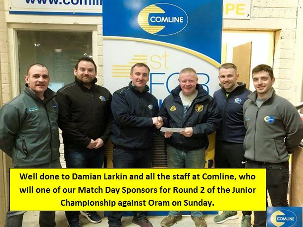 A big thanks to all at Comline , Clones Rd., Monaghan who are one of our Match Day Sponsors for Round 2 of the Junior Championship against Oram