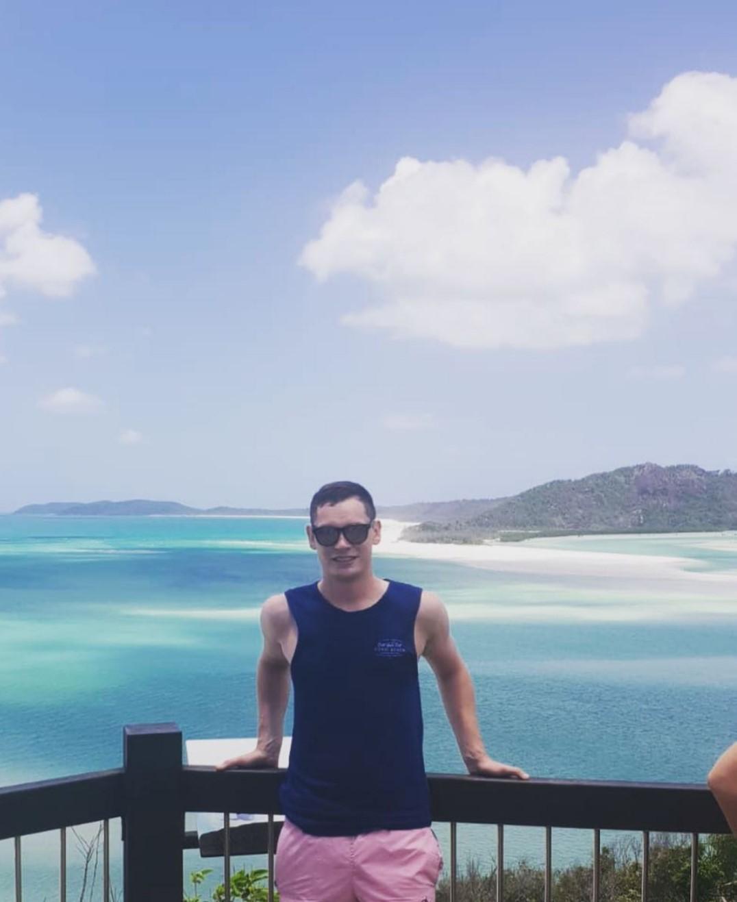 James at Whitsunday Island off the coast of northern Australia