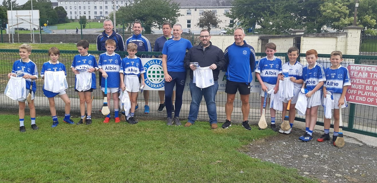 Pictured are the boys and mentors receiving their gear from Sean O Sullivan.
