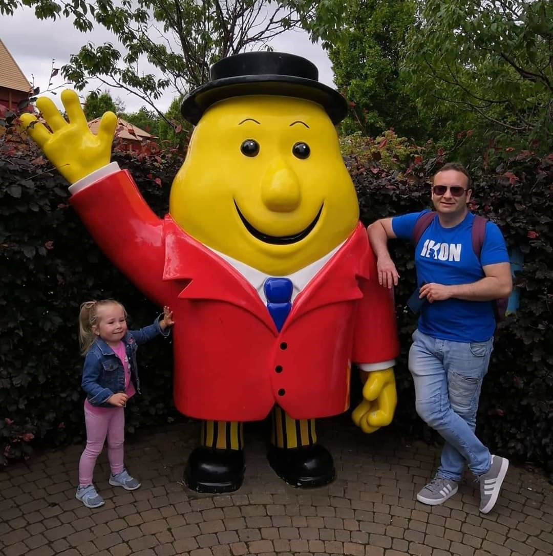 With Rebecca at Tayto Park