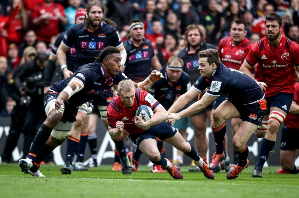 Saturday Munster take on Sarries after Munster edged past Edinburgh to reach the last four, while Sarries had a much more comfortable outing when they dispatched Glasgow 56-27 at Allianz Park.