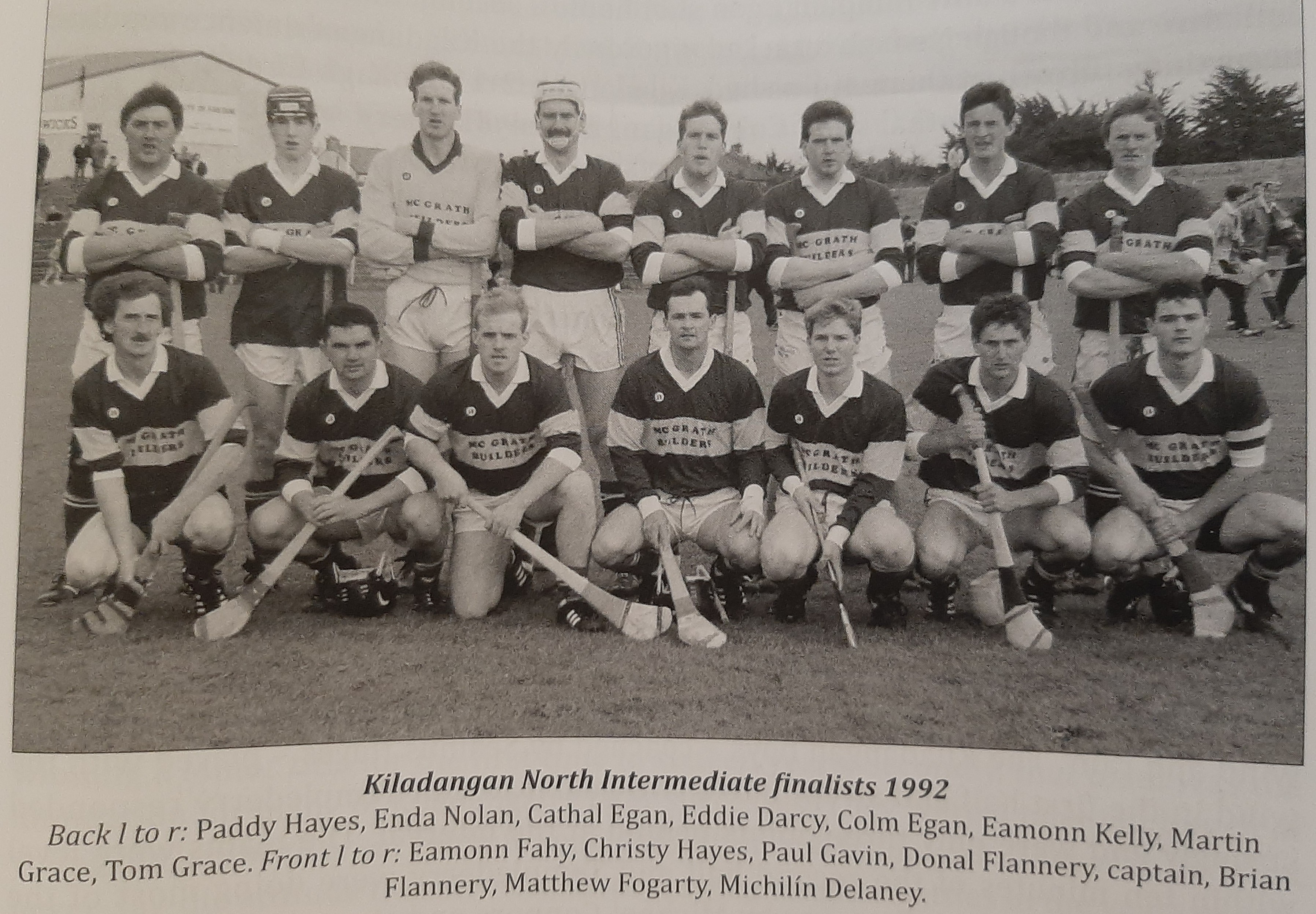 Colm pictured 5th from left in the back row ahead of the 1992 North Intermediate Final