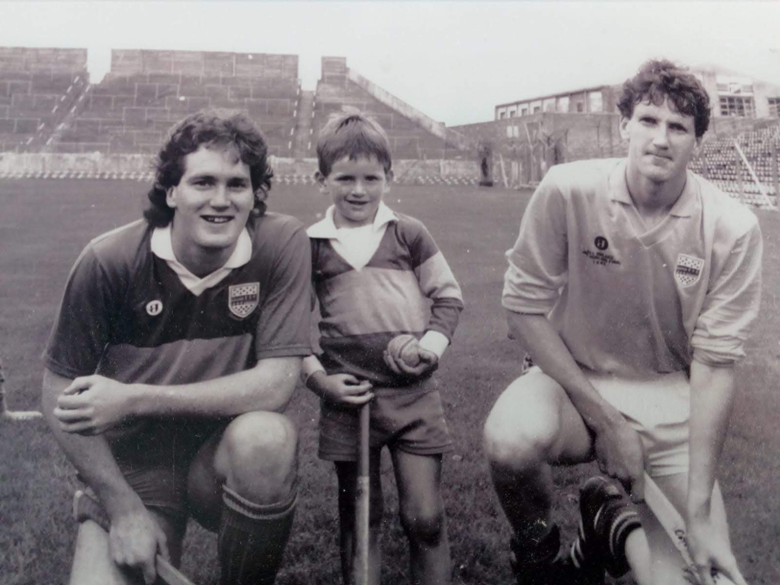 Colm, Darragh & Cathal Egan ahead of the All Ireland Under 21 hurling final in 1990