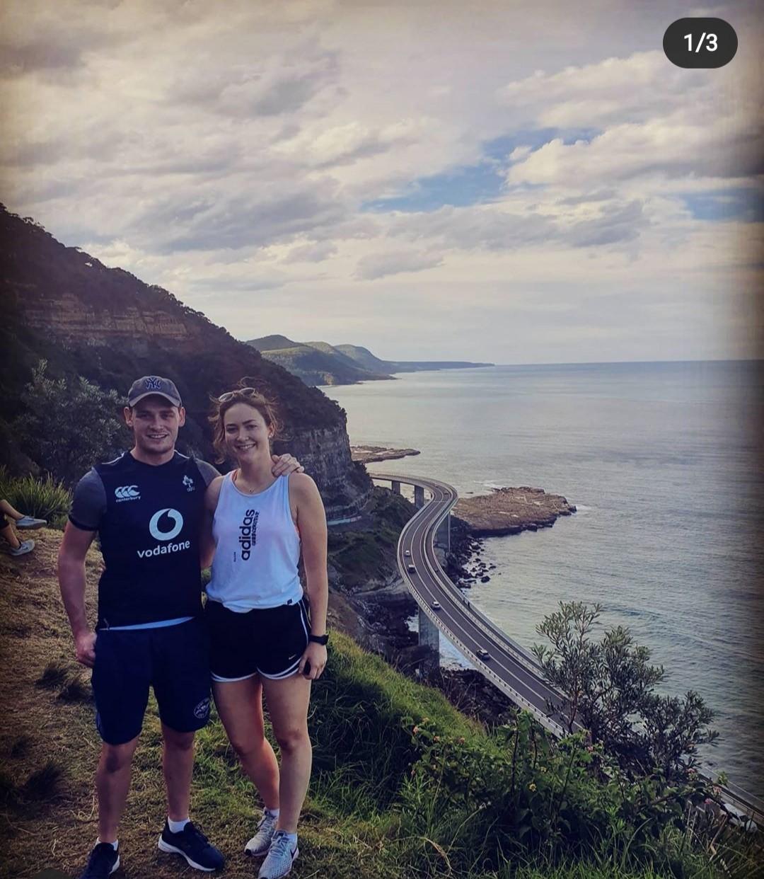 James and Sarah along the Sea Cliff Bridge south of Sydney