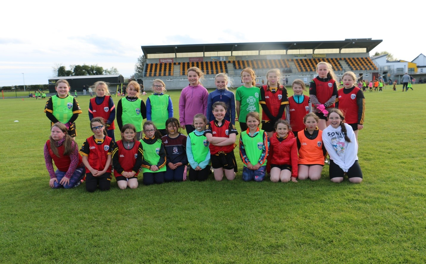 Members of The Downs LGFA GAA U10s Returning to Play May 7th 2021