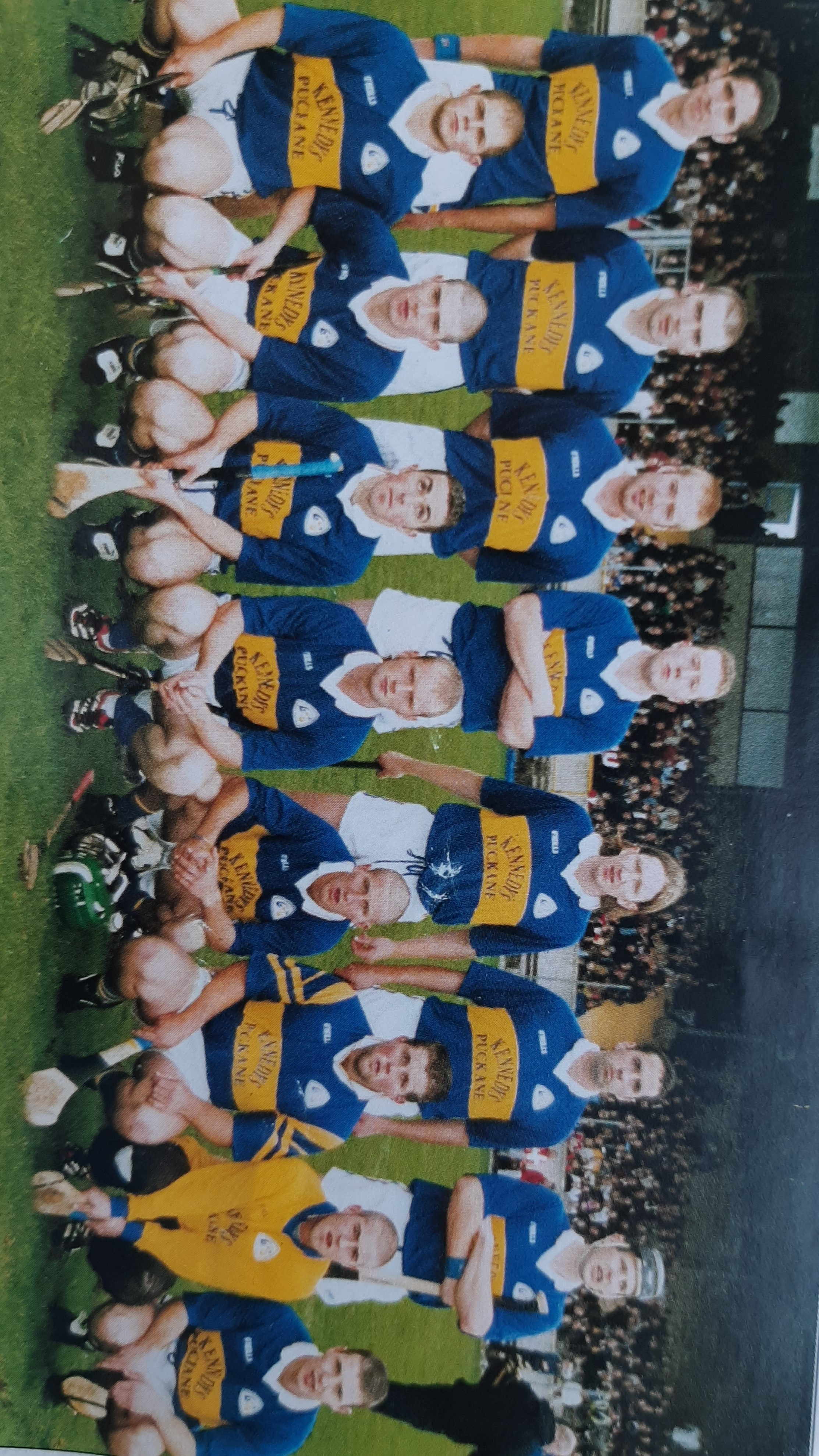 Team Picture ahead of the 2001 North Intermediate Hurling Final - Enda is pictured in the middle of the back row