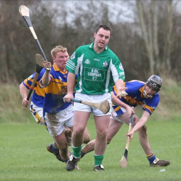 Conor in action for Kiladangan in the Munster Junior 'B' Hurling Final in February 2007