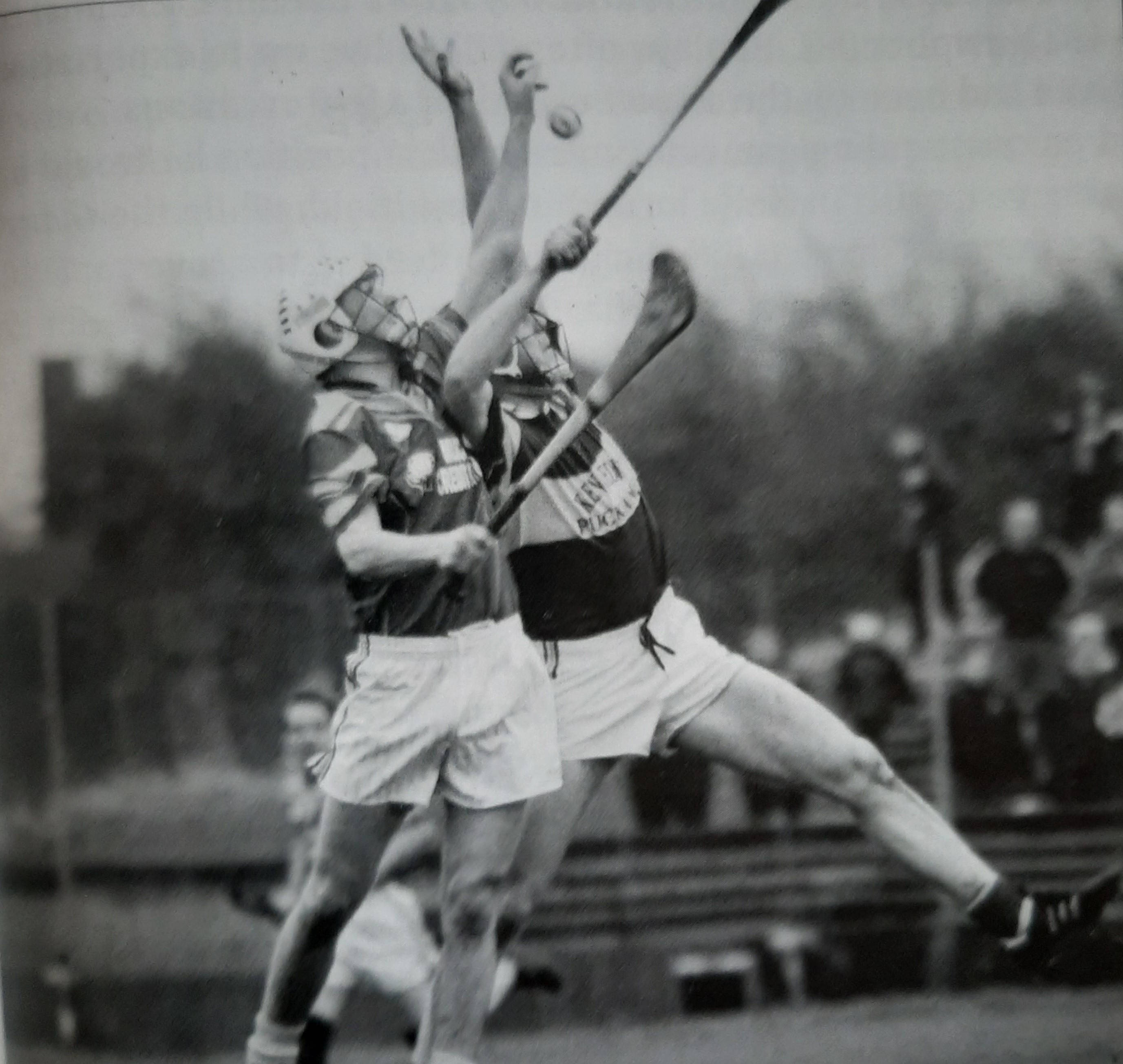 Enda contesting a high ball against Newport